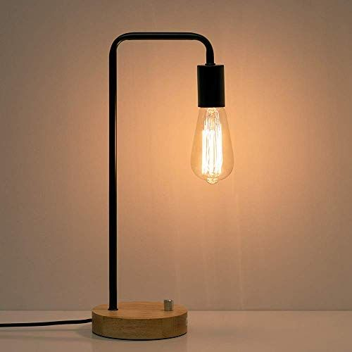 Haitral Industrial Desk Lamp Wooden Table Reading Lamp Https Www Amazon Com Dp B0791xj1kn Ref Cm S Industrial Table Lamp Industrial Desk Lamp Desk Lamp