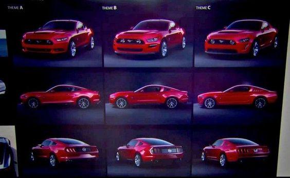 Ford deixa escapar propostas de design para a nova geração do Mustang