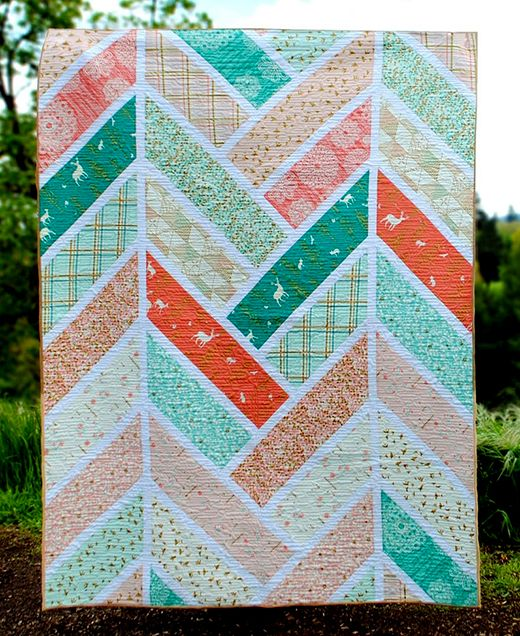 The Broken Herringbone Quilt