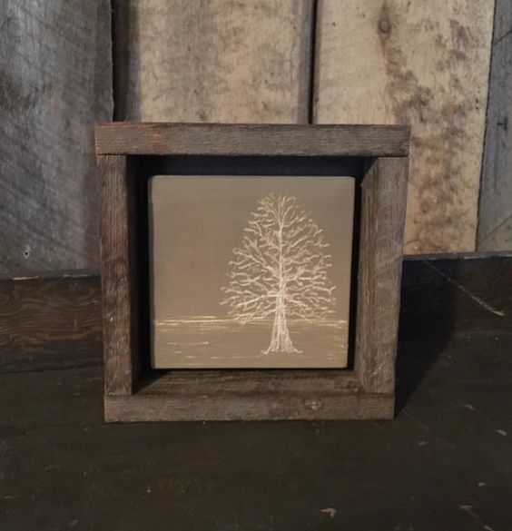 Engraved Art - Rustic Decor - Office Art - Cabin Decor - Shelf Art - Office Decor - Primitive Decor - Minimalist Art - Gray Home Decor