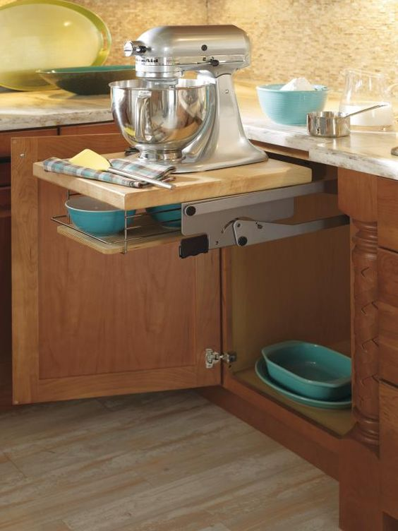 Counter space mixer and spaces on pinterest - Small kitchen no counter space model ...