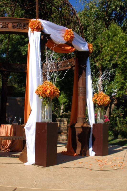 Simple Wedding Gazebo Decorations : Simple decorations for a gazebo wedding sunflower blue cake