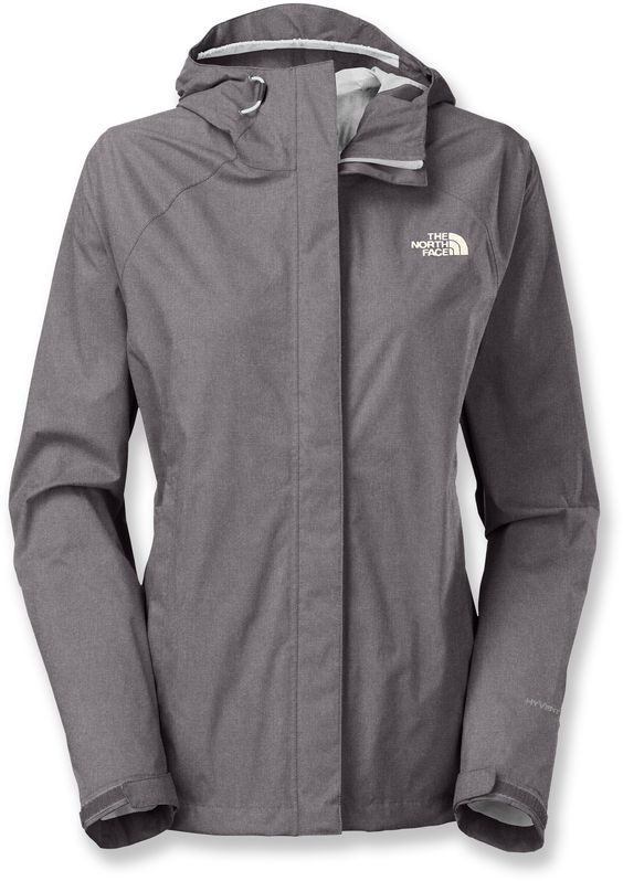 The North Face Venture Rain Jacket - Women's - High Rise Grey Heather Large