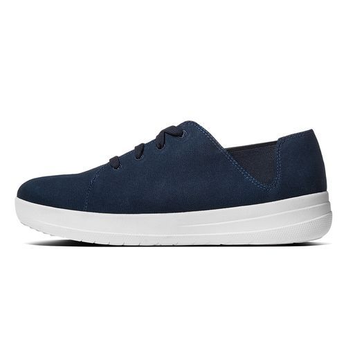 FitFlop F-Sporty Lace-Up Canvas Sneakers Supernavy|FitFlop Official Online Store
