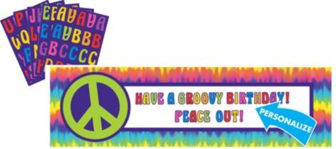 Feeling Groovy Personalized Banner 65in - Party City