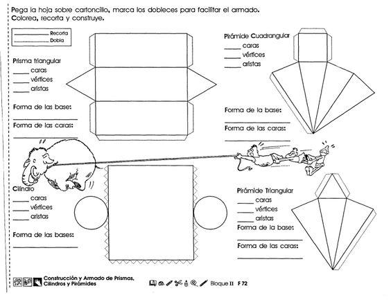 Construcción y armado de prismas, cilindros y pirámides