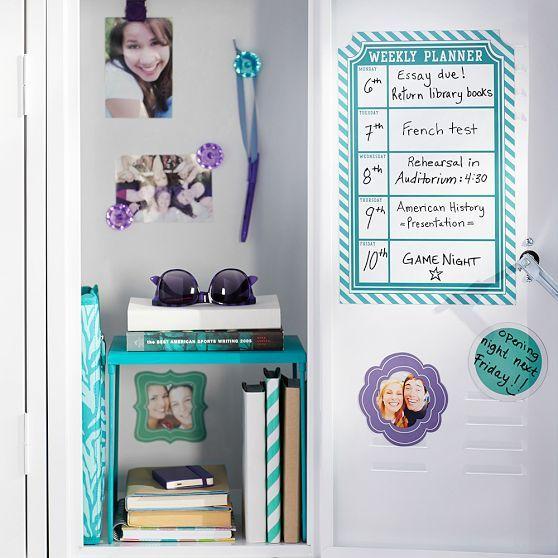 Diy Locker Calendar : Magnetic calendar locker organization and on
