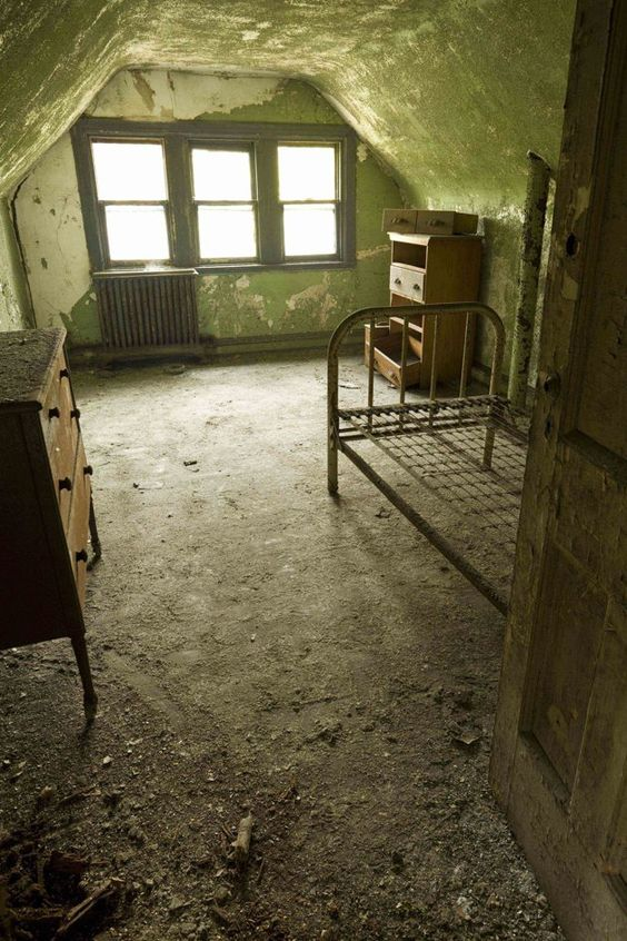 A surprisingly intact room on the third floor of the northern wing of the doctors' building
