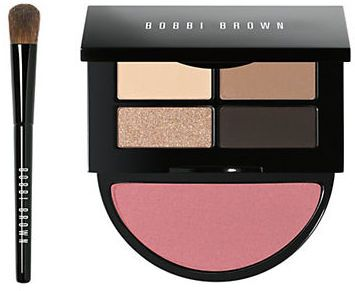 Bobbi Brown Instant Pretty Eye and Cheek Set - Silky matte and metallic powder shadows go on smooth and even creating a flattering, yet simple look. Add a pop of Nectar blush for fresh and naturally flushed finish.
