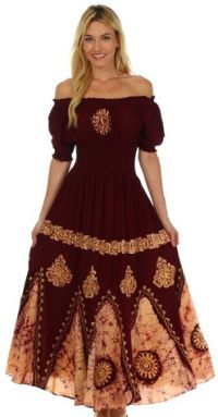 Sakkas Batik Sunshine Peasant Dress