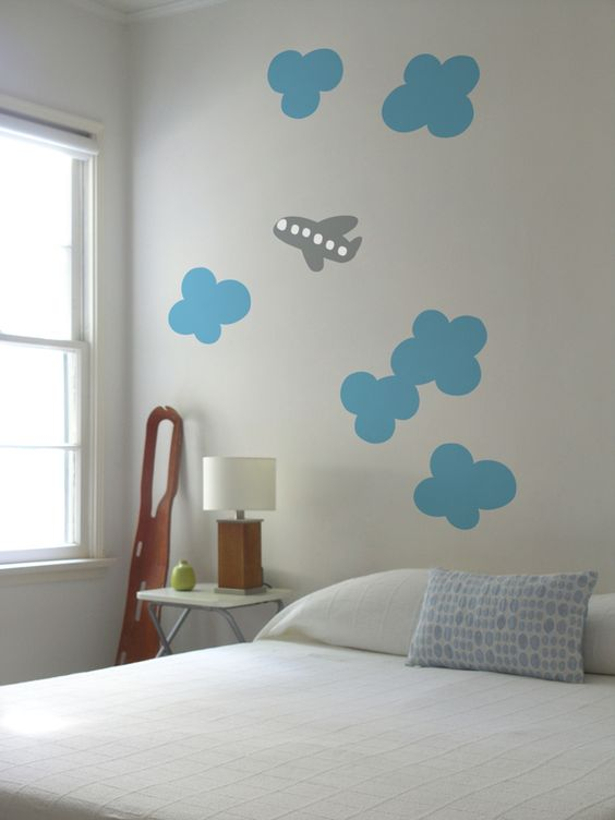 clouds and plane decals