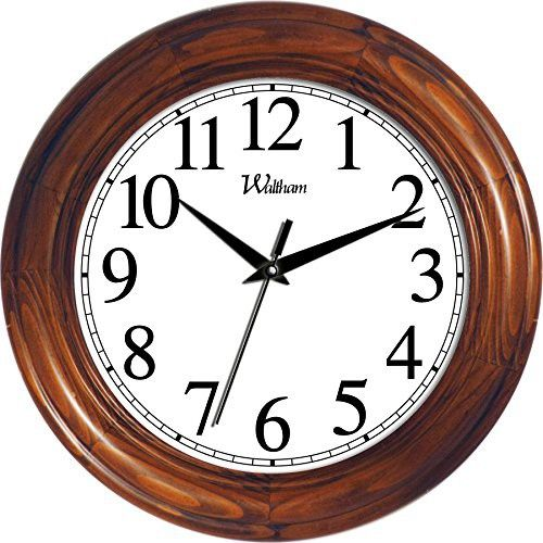 Ashton Sutton Round Quartz Analog Wall Clock 12 Inch Solid Wood Case With Cherry Finish Wall Clock Clock Pine Walls