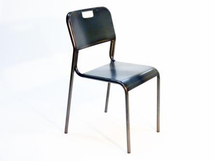 Silla metalica retro india descripci n silla retro de - Silla metalica apilable ...