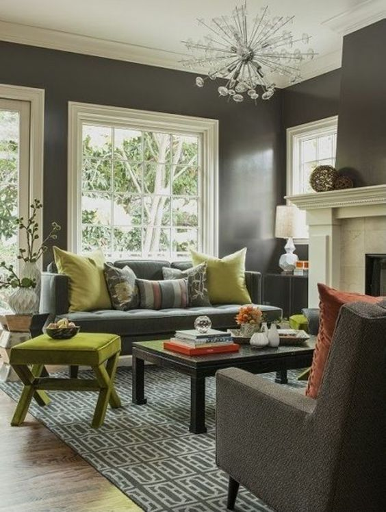 nice Wandfarben fürs Wohnzimmer – 100 trendy Wohnideen für Ihre Wandgestaltung