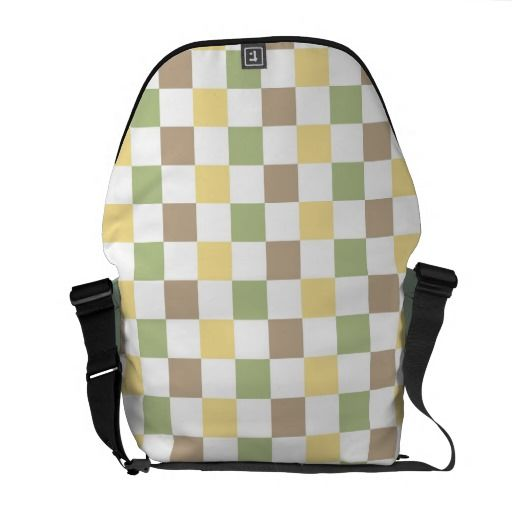 Squares pattern messenger bag