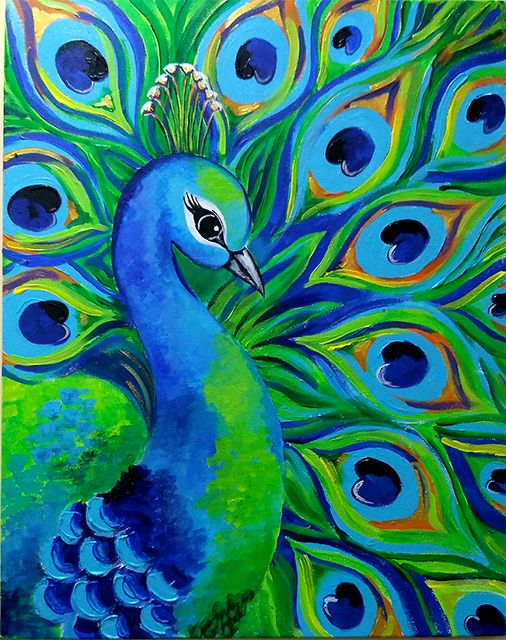 Peacock Painting Images