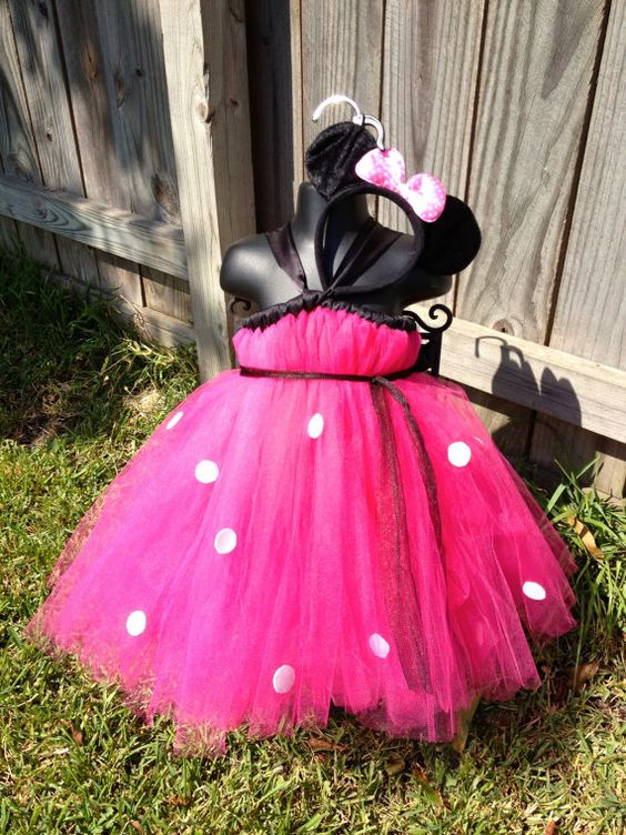 Hot Pink Minnie Mouse Tutu Dress