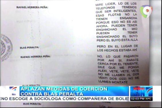 Presentan Conversación Entre Blas Peralta Y Coronel Tras Asesinato Febrillet #Video