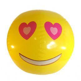 Emoji Beach Ball |Heart Eyes Face | Emoticon Inflatable
