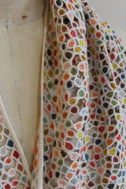 Image of Handmade Sophie Digard Wool Scarf:
