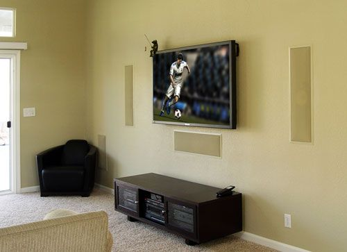 In Wall Home Theater Systems awesome in-wall home theater using b & w signature 8 left, right