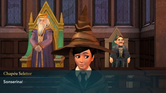 Joguinho Viciante: Harry Potter Hogwarts Mystery - Chapéu Seletor