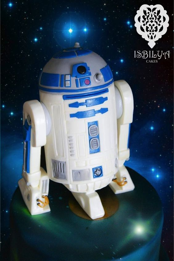 Wonderful R2-D2 Cake made by Isbilya Cakes: