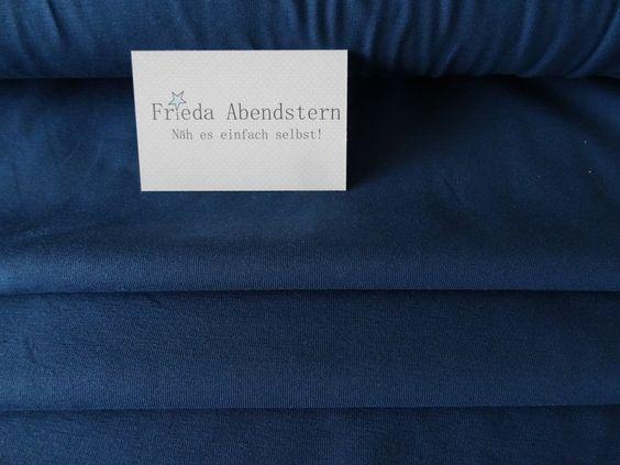 Stoff grafische Muster - Baumwoll Jersey Uni petrol - von Frieda-Abendstern bei DaWanda