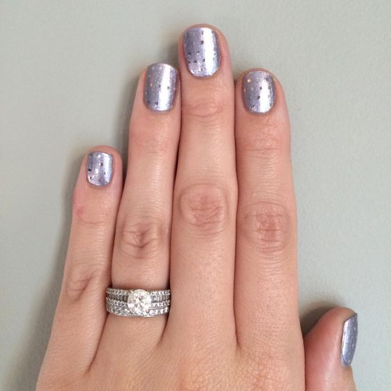 jamberry so presh lacquer with silver dot wraps