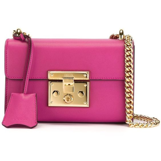 Gucci Padlock Bag ($1,470) ❤ liked on Polyvore featuring bags, handbags, shoulder bags, pink, pink shoulder handbags, miniature purse, mini shoulder bag, gucci purses and pink purse