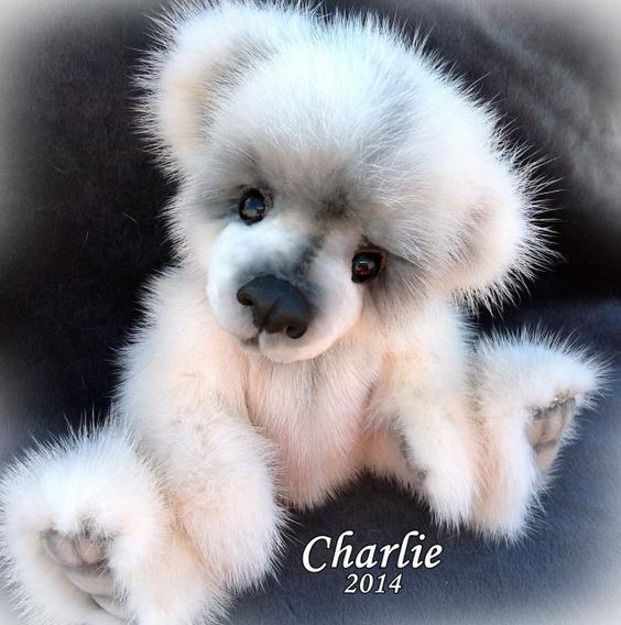 Realistic Bear Cub made of real MINK fur by Teddy Bear Artist