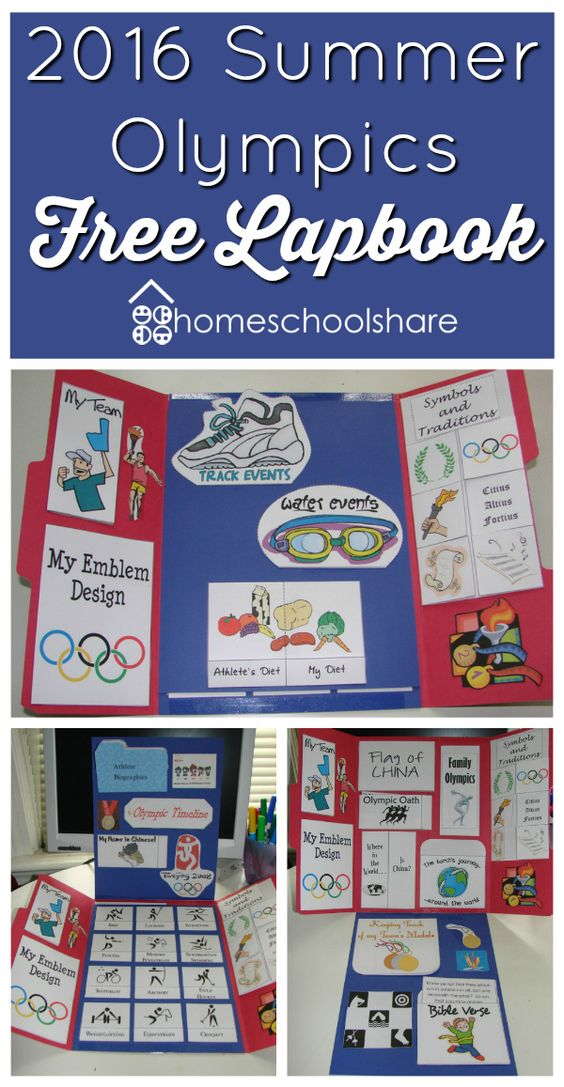 FREE 2016 Summer Olympics Lapbook  - repinned by @PediaStaff – Please Visit ht.ly/63sNtfor all our pediatric therapy pins