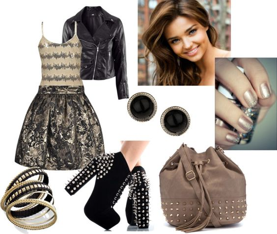 """""""shimmer and shine (in studs)"""" by mt-girl15 ❤ liked on Polyvore"""