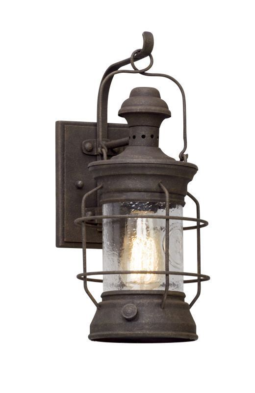 Troy lighting b5051 atkins 1 light 675 wide hand forged outdoor troy lighting b5051 atkins 1 light 675 wide hand forged outdoor wall sconce wi centennial rust outdoor aloadofball Images