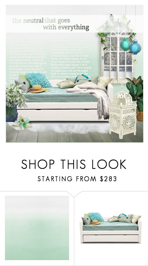 """white&blue"" by anishabgv ❤ liked on Polyvore featuring interior, interiors, interior design, home, home decor, interior decorating, Designers Guild and Keen Footwear"