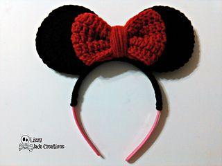 Ravelry: Minnie Mouse Inspired Headband pattern by Jenna Johnston