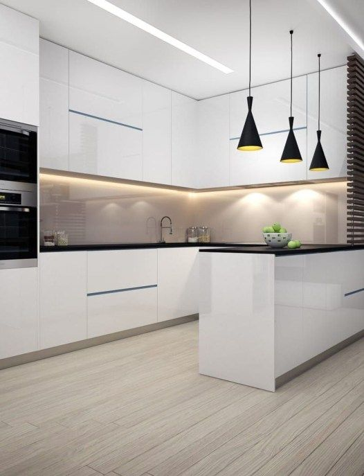 Gorgeous Modern Kitchen Design Ideas08 White Kitchen Design