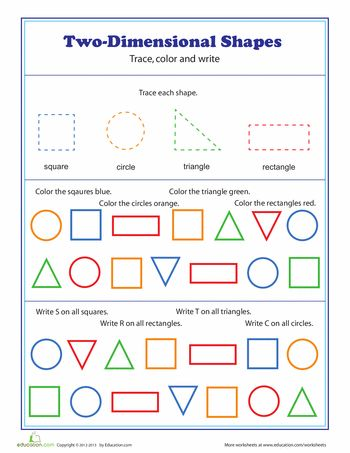 Printables Two Dimensional Shapes Worksheets two dimensional shapes circles the ojays and shape worksheets shapes