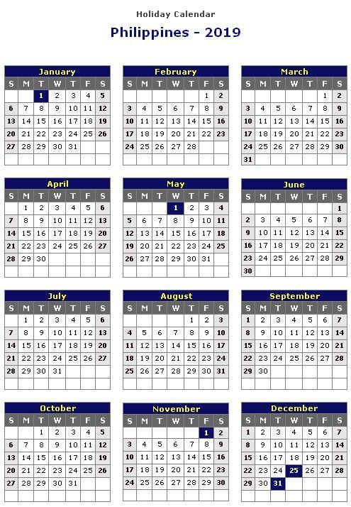 March 2019 Calendar Philippines November Calendar Holiday Calendar Printable Calendar Template
