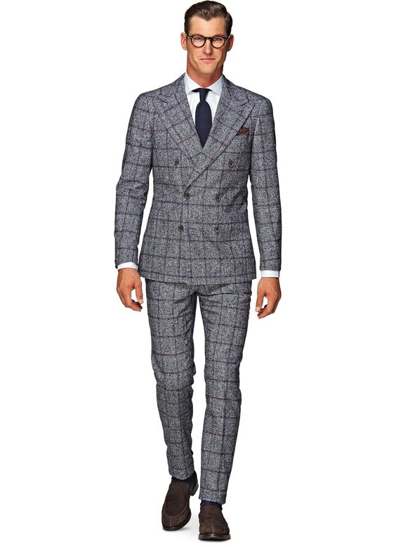 Suit Grey Check Madison P3935 | Suitsupply Online Store | Things