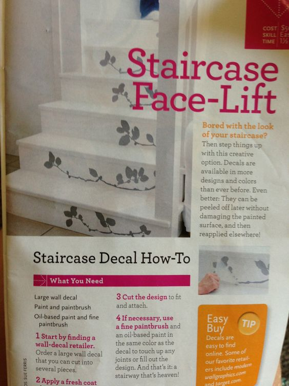 Use decals to spice up your staircase!