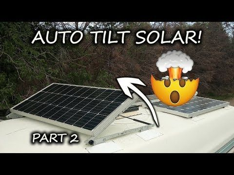 Rv Solar Panel Install Diy Auto Tilt Mount With 3m Vhb Tape No Holes Part 2 2 Youtube Rv Solar Panels Solar Solar Panels
