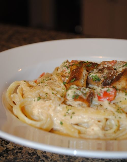 Cajun Fettuccine withTofu. We don't know about you, but we're coveting this dish.