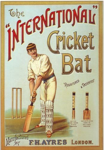 Edwardian Cricket Bat Advertisement Poster A3 Reprint by Vintage Poster Shop, http://www.amazon.co.uk/dp/B007E2O9O0/ref=cm_sw_r_pi_dp_Z.1Qrb1TYGRB3