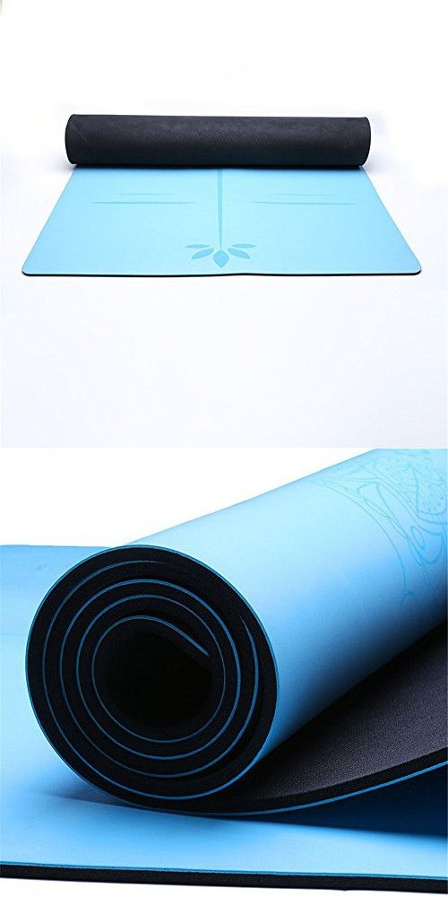 Ybriefbag Yoga Gym Exercise Mat Yoga Mat Pu 5mm Blue Environmental Friendly Tasty Gym Mat Yoga Mat For Gym Family Outdoor Sports Fitness Gym Mats Gym Workouts Mat Exercises