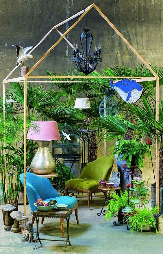Salons terrasse and inspiration on pinterest for Decoration jardin colore