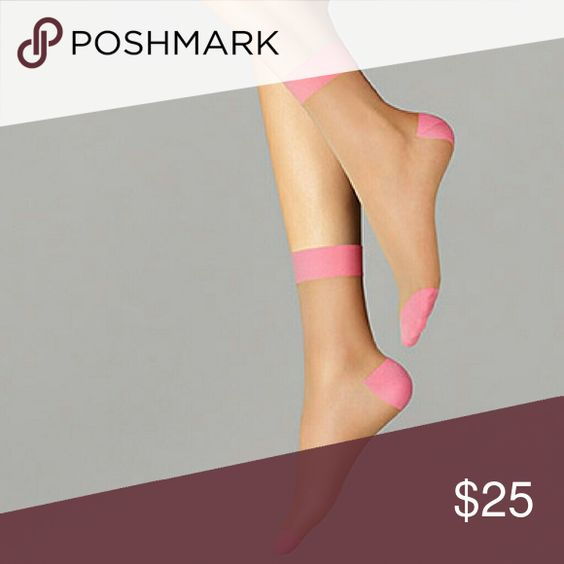 Wolford -- Clara Socks Brand new in Small size, color in Gobi / Pink Wolford Accessories Hosiery & Socks