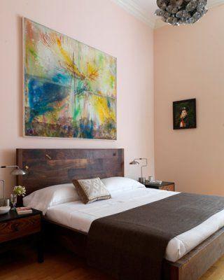 Pink Ground Farrow & Ball contemporary bedroom
