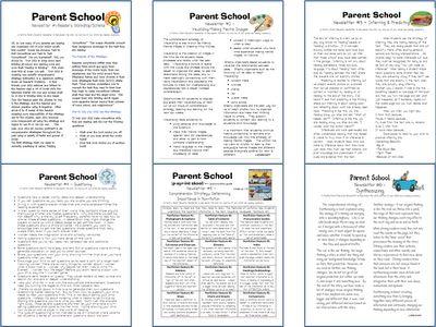 Parent communication letters - reading strategies