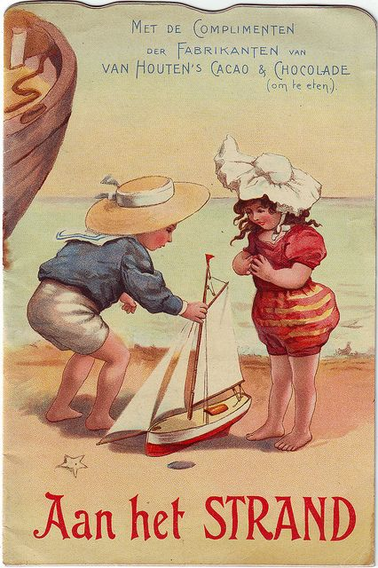 ccacao van houten - aan het strand booklet - boy shows girl his toy yacht | by patrick.marks
